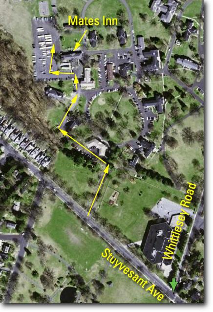 Mates Inn aerial view