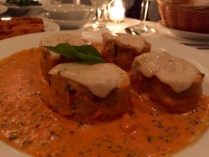 The luscious eggplant rollatini are not to be missed.
