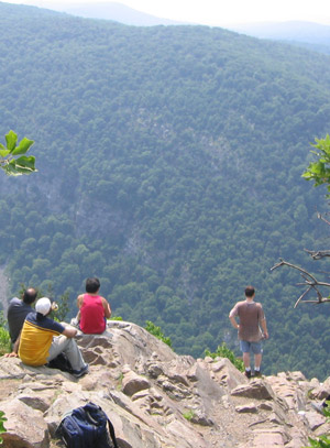 Viewpoint near summit of Mt. Tammany