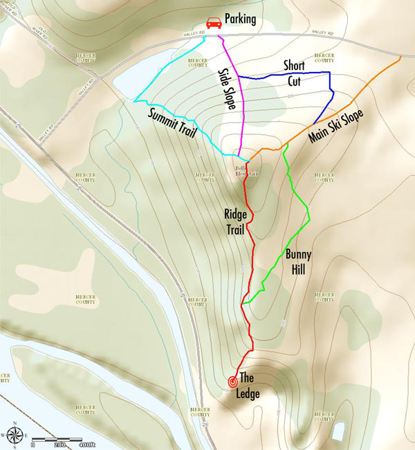 Note:  All place names and trail names are made up.  None of these trails are maintained.