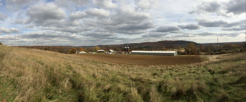 """View of the Howell Farm and Baldpate Ridge from the """"Bunny Slope"""""""