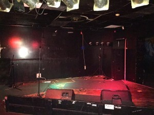 "There's a back room (go through the door that says ""Ladies Room"") where they have concerts on this stage"