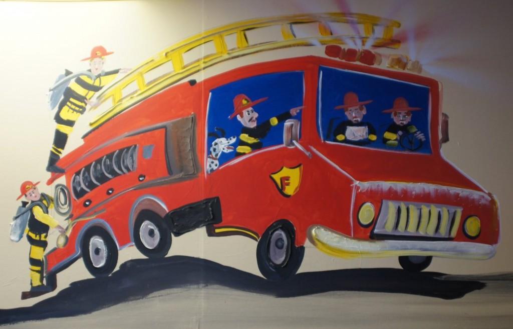 Fire Truck Mural