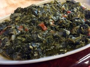 Sabzi (spinach)
