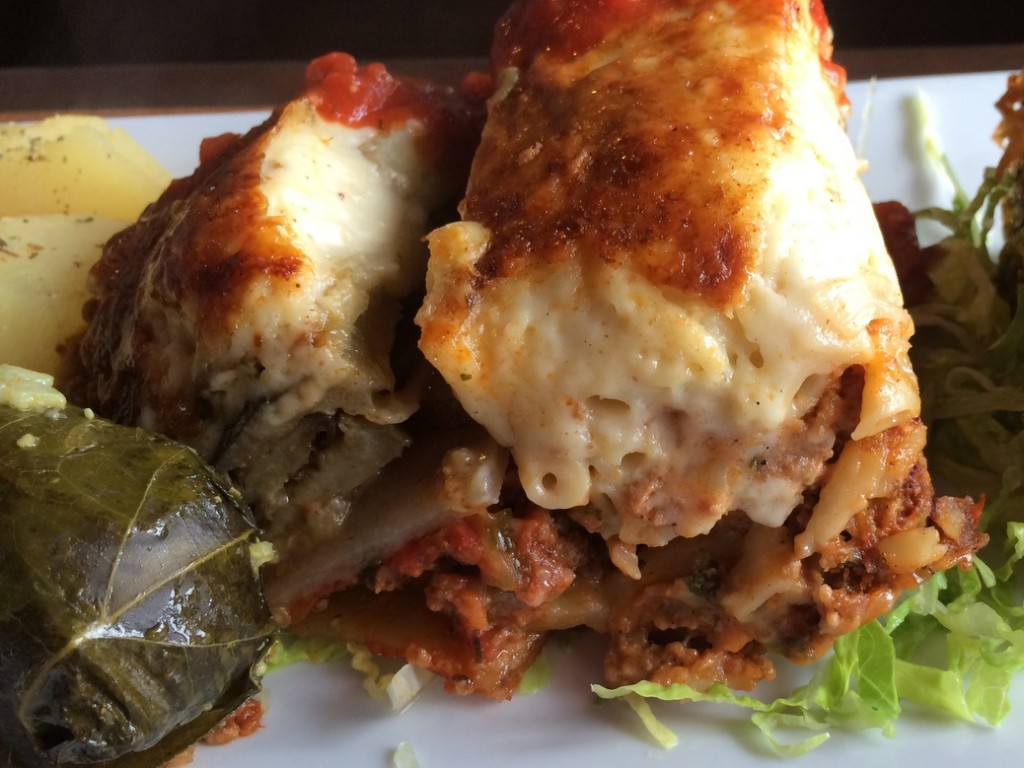 Mousssaka and Pastitsio