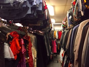 The Costume Scene's warehouse is chock full of authentic, period clothes in every size.