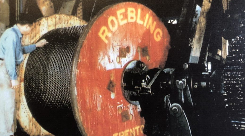 Roebling Wire Rope Spool