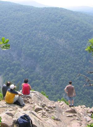 Viewpoint near summit of Mt. Tammany