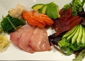 """The """"sushi dinner,"""" which is a generous portion priced (in 2015) at $22"""