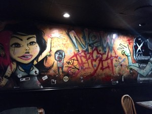 Champs is a hangout for Trenton's street art community, and they've adorned the walls