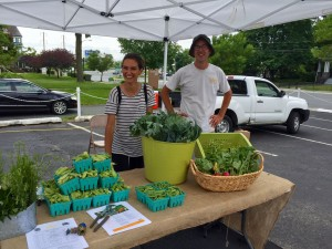 Isles' farm stand. Everything is grown chemical-free in their urban gardens within city limits!
