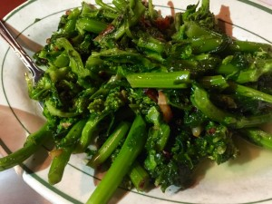 Broccoli Rabe is an a la carte side dish option. Order it.