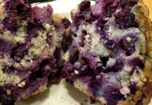 The blueberry : batter ratio is superb.