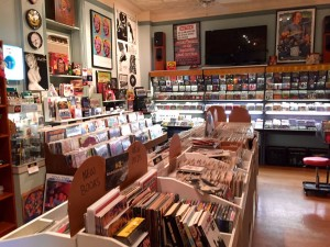 The vinyl, CDs, DVDs and books